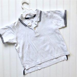 •Carter's • White pique polo shirt